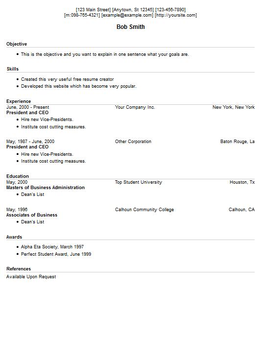 resume creator free resume exle 13 free resume creator