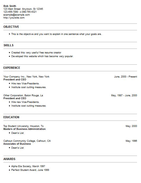 Pcman Free Resume