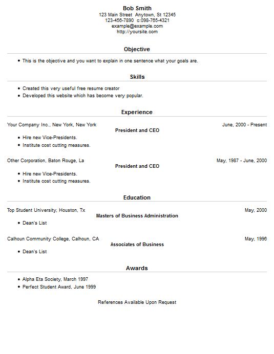 resume example 15