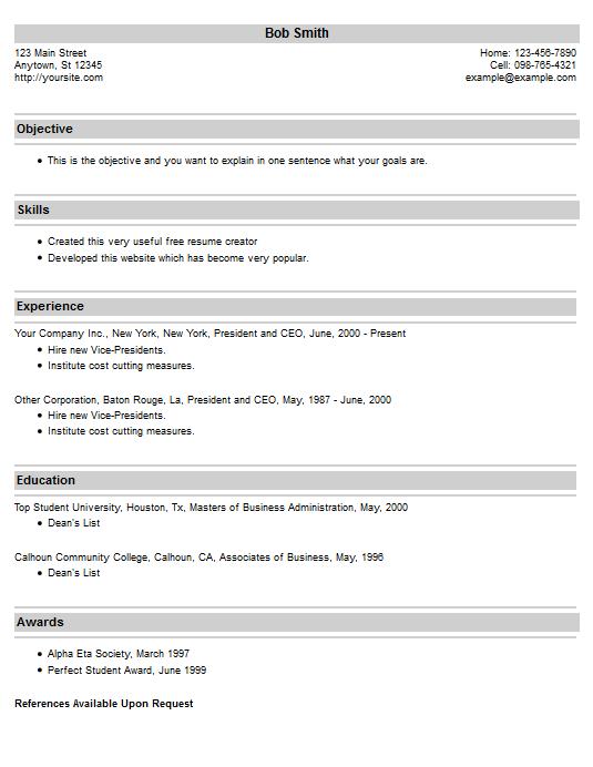 resume example 20