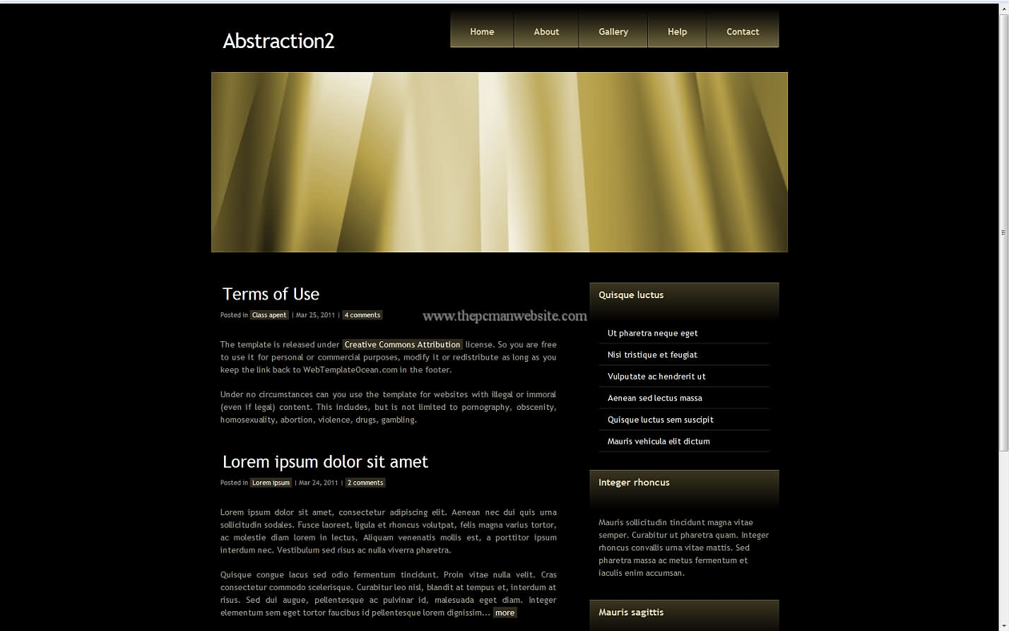 Abstraction2 css template