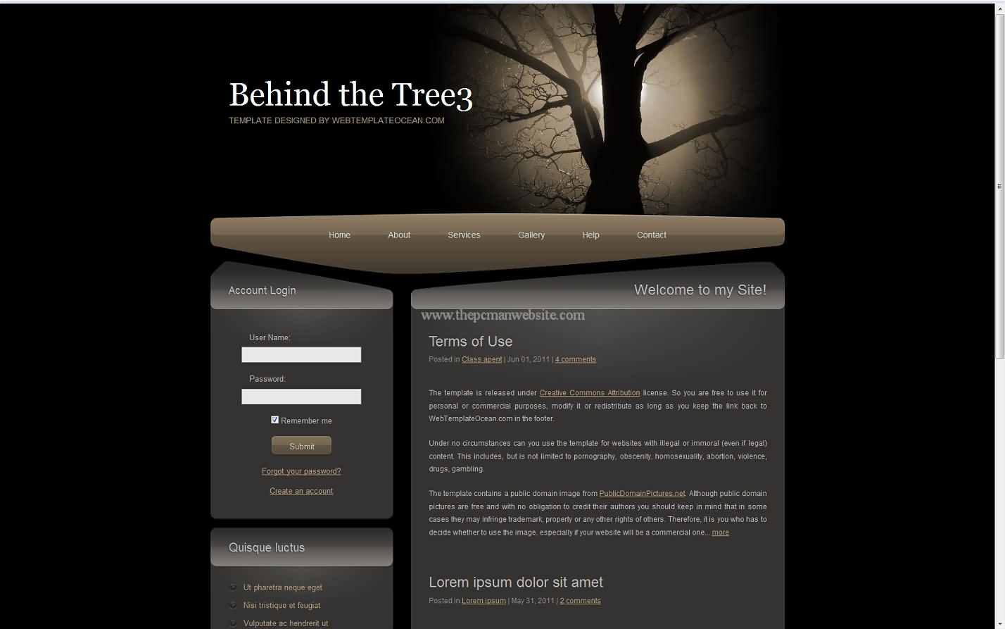Behind The Tree3 css template