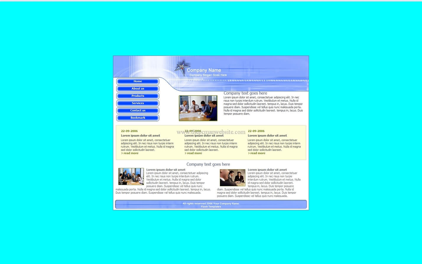 Free Blue Template12 css template
