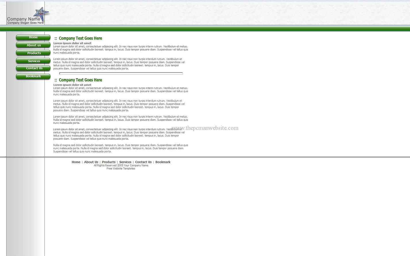 Free Green Template5 css template