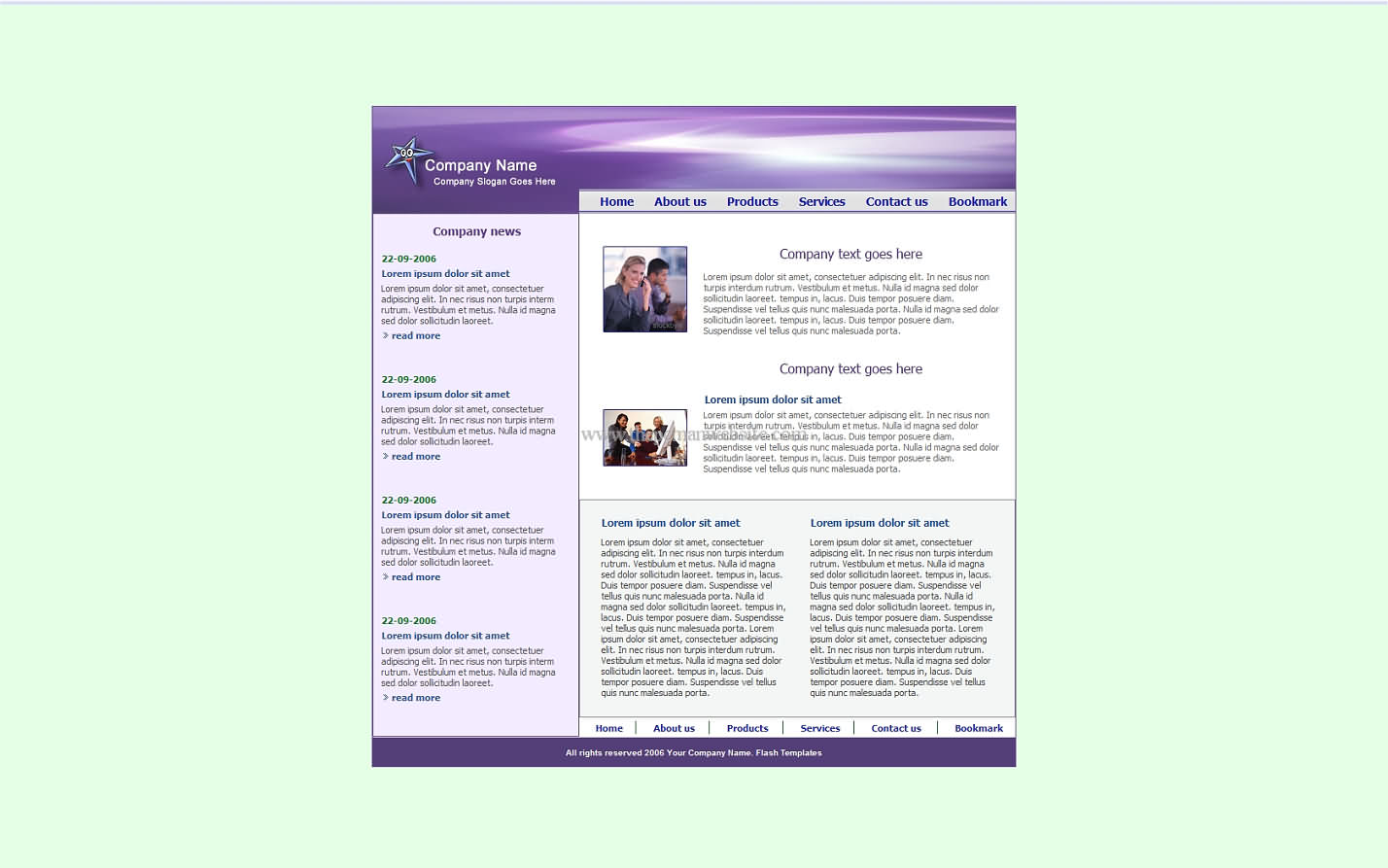 Free Violet Template9 css template