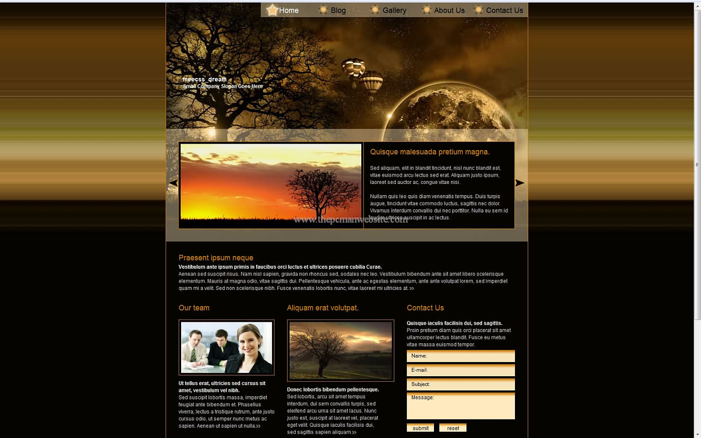 Freecss Dreams css template