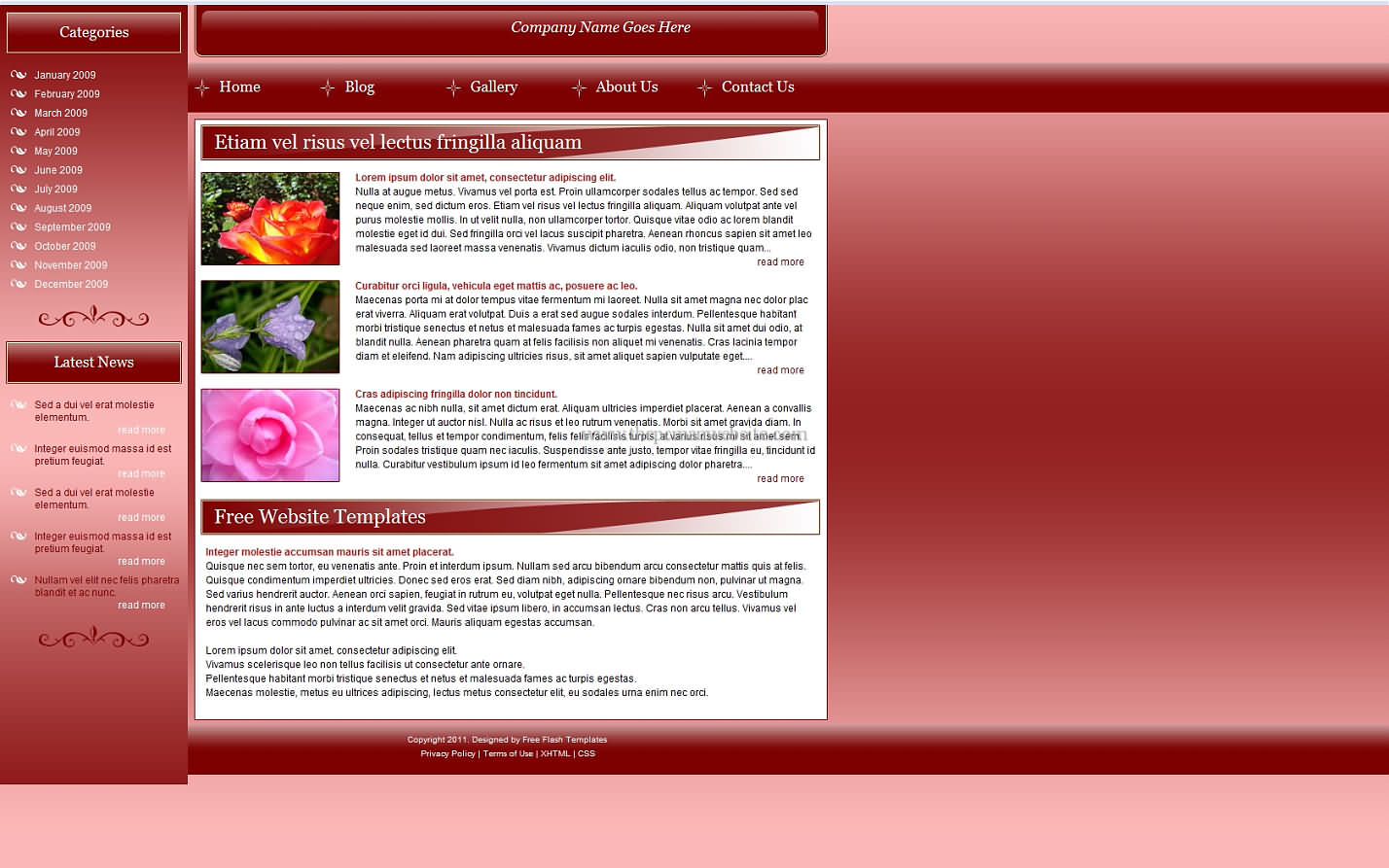 Ftdflowered css template