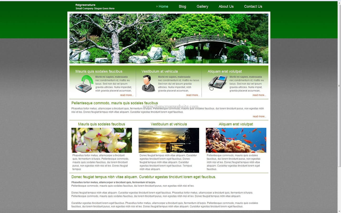 Ftdgreenature css template