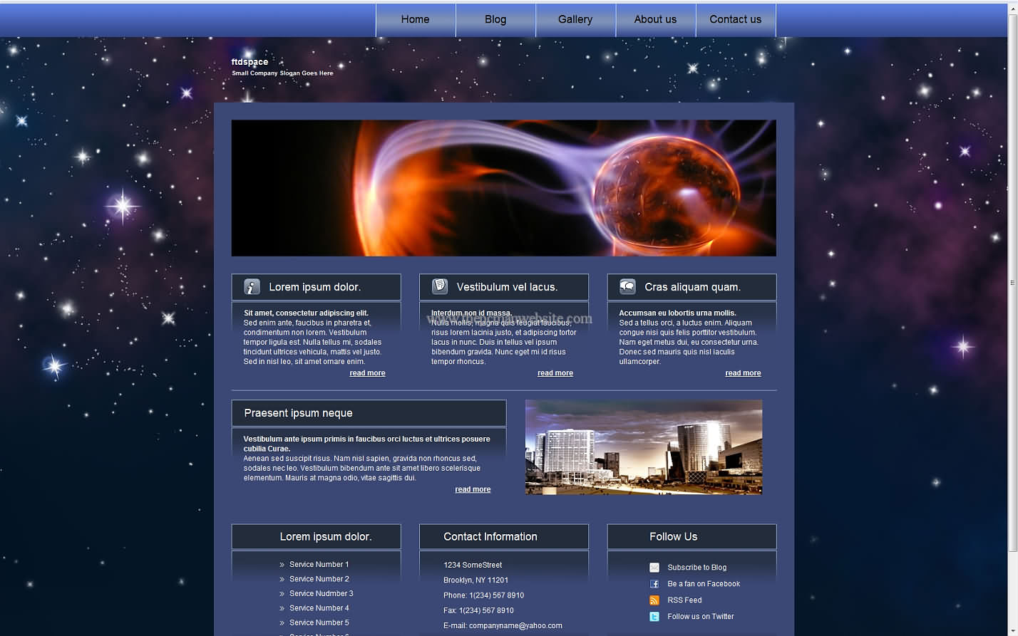 Ftdspace css template
