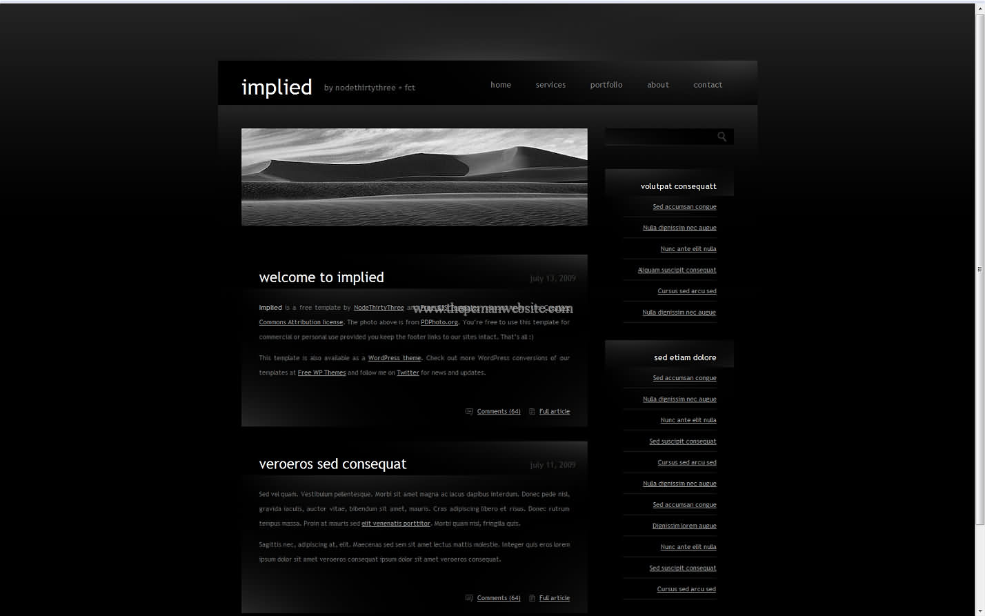 Implied css template
