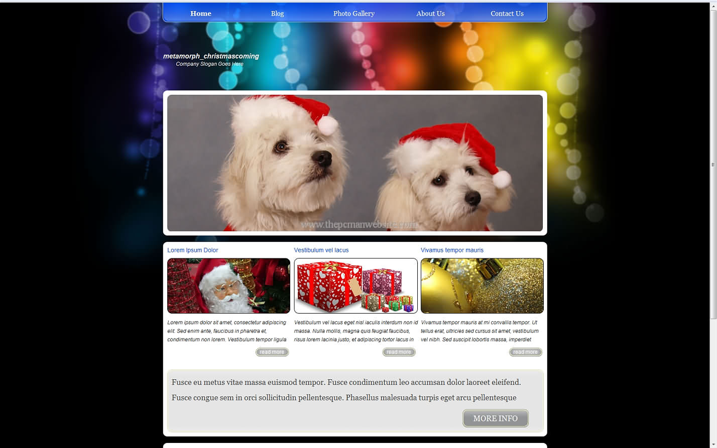 Metamorph Christmascoming css template