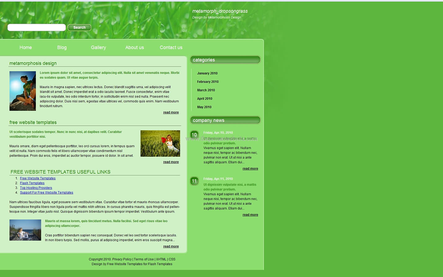 Metamorph Dropsongrass css template