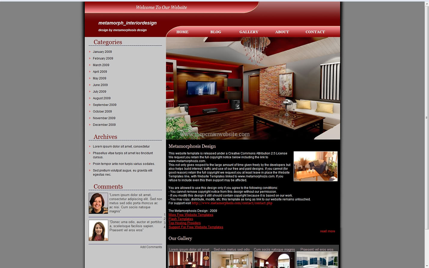 Metamorph Interiordesign css template