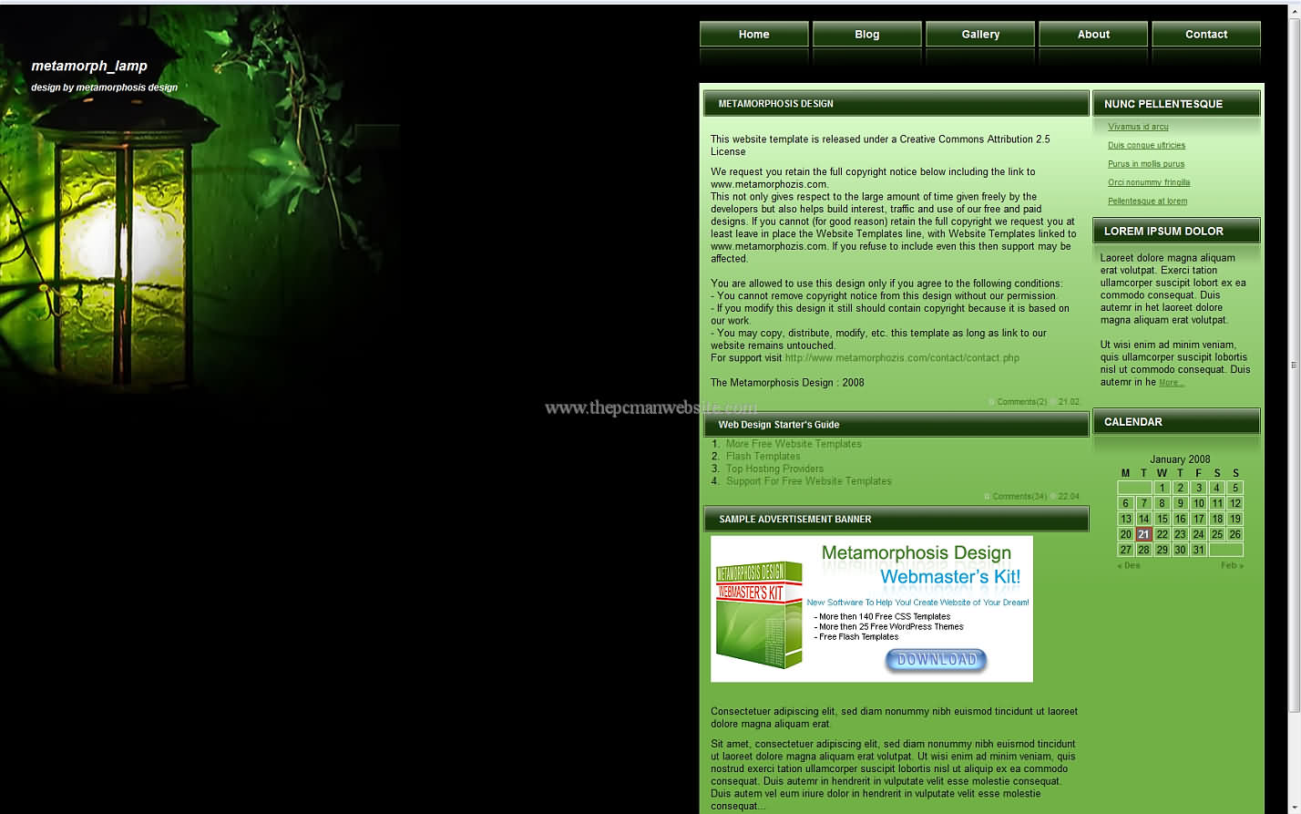 Metamorph Lamp css template