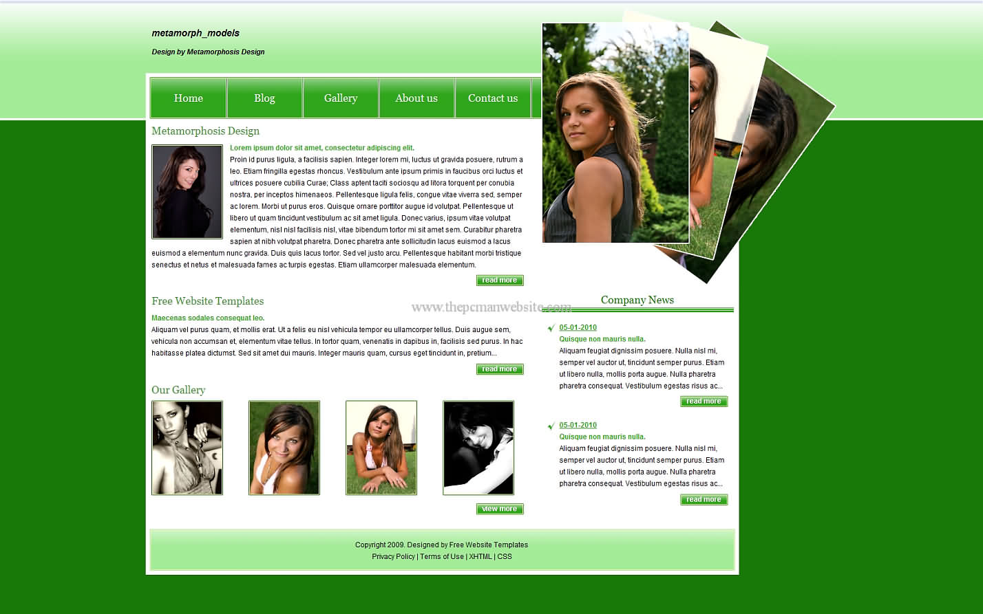 Metamorph Models css template