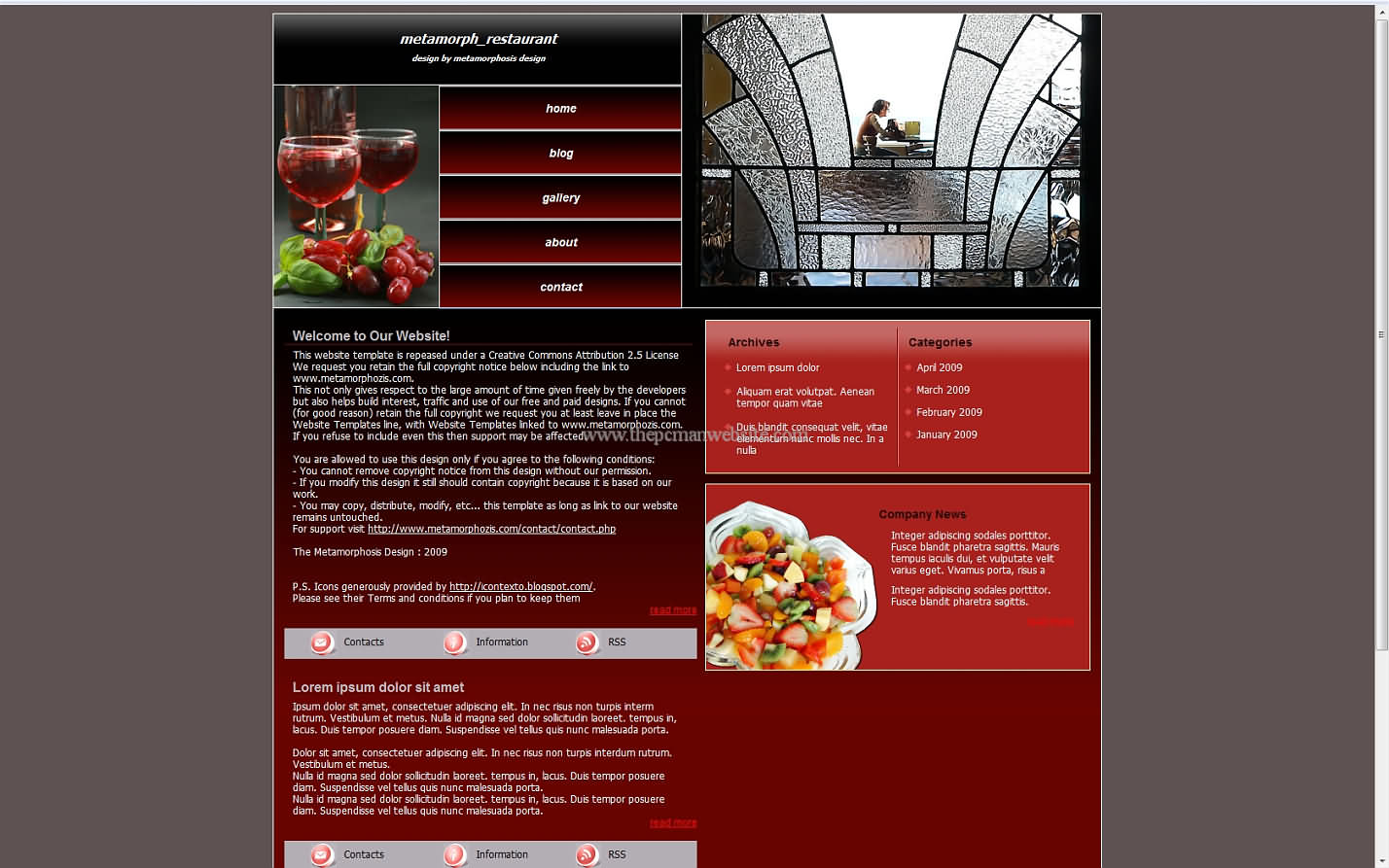 Metamorph Restaurant css template