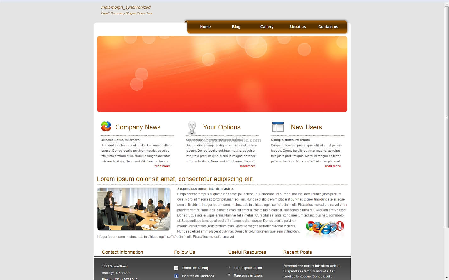 Metamorph Synchronized css template