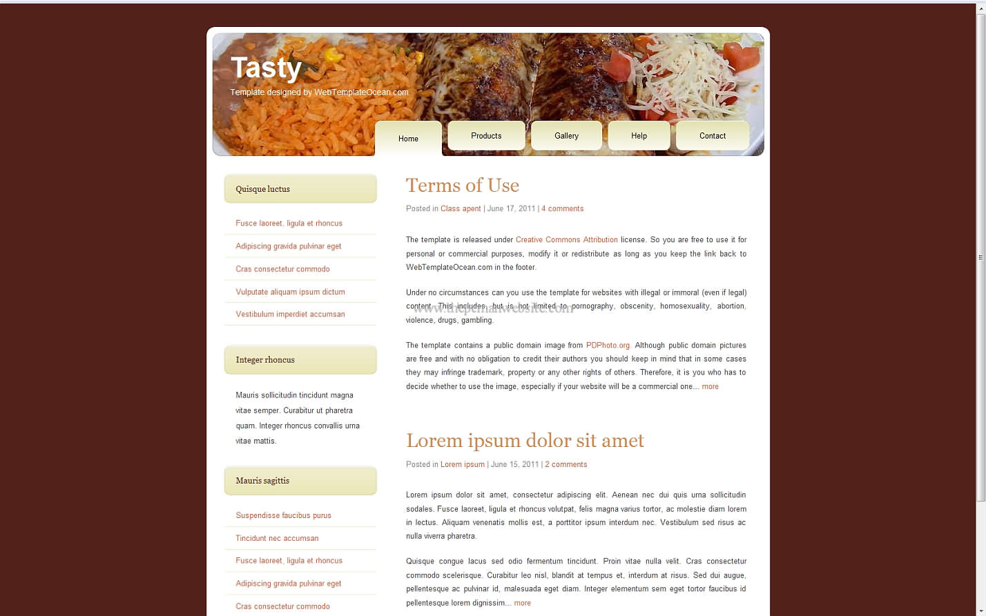 Tasty css template