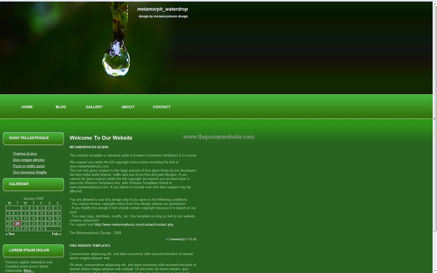 Metamorph Waterdrop wordpress template