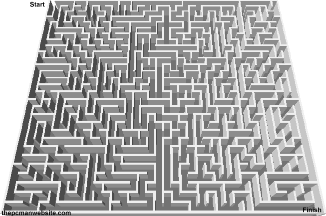 The PCman Website Printable Mazes - Maze 3: https://www.thepcmanwebsite.com/media/mazes_to_print/maze3.shtml