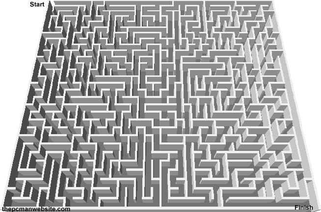 Free Mazes to Print Online 6 - The PCman Website
