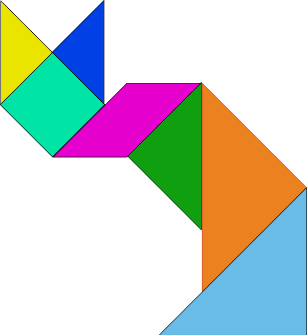 Pin 12 Tangrams For Kids on Pinterest